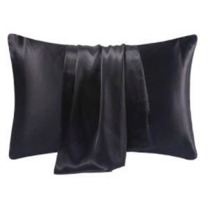 New Black 100% Mulberry Silk 6A 22mm Pillowcase
